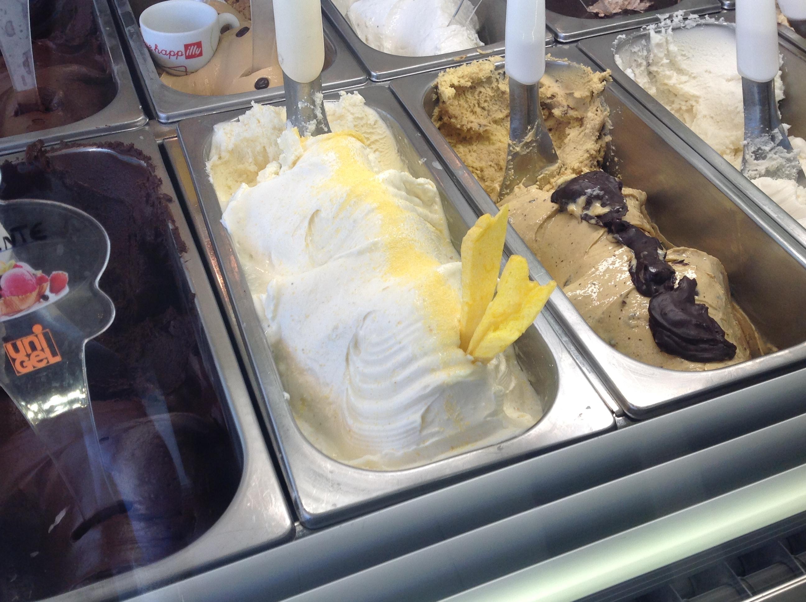 gelato al gusto polenta