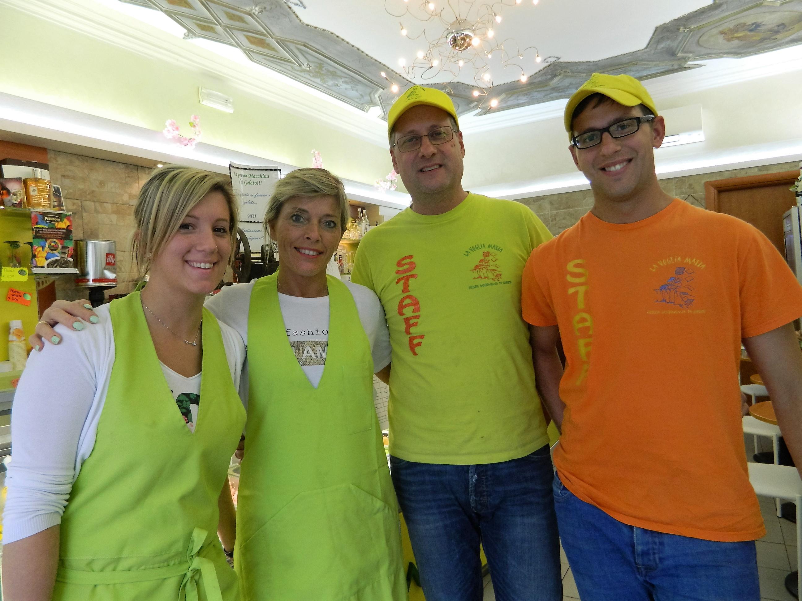 la famiglia rossi la voglia matta pizzeria e gelateria a Zanica