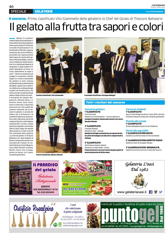 Premiata gelateria a Zanica, vicino a Bergamo, anche senza glutine